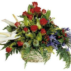 dịch vụ, Arrangement of Mixed Flowers
