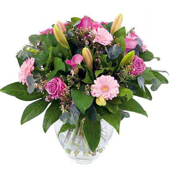 Bouquet of Mixed Pink Flowers
