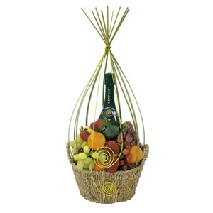 dịch vụ, Fresh Fruit & Sparkling Wine Gift Basket