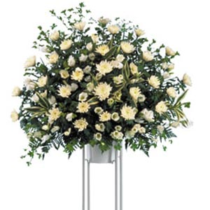 dịch vụ, Funeral Standing Arrangement (white)