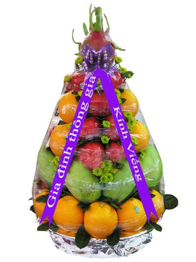 Giỏ hoa quả đẹp viếng tang lễ
