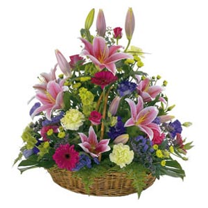 dịch vụ, Large Basket of Bright Flowers