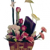 Basket Arrangement with Teddy