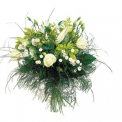 Bouquet of Middle Stemmed Flowers in White