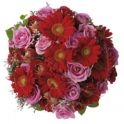 Bouquet of Roses and Gerberas