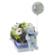 It's a Boy Flowers, Bear and Balloon