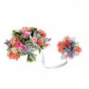 Round Mixed Bouquet Pastel Colours